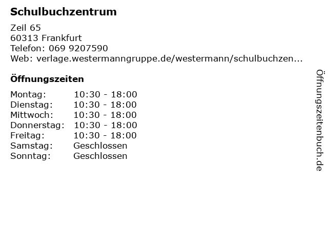 Schulbuchzentrum in Frankfurt: Adresse und Öffnungszeiten