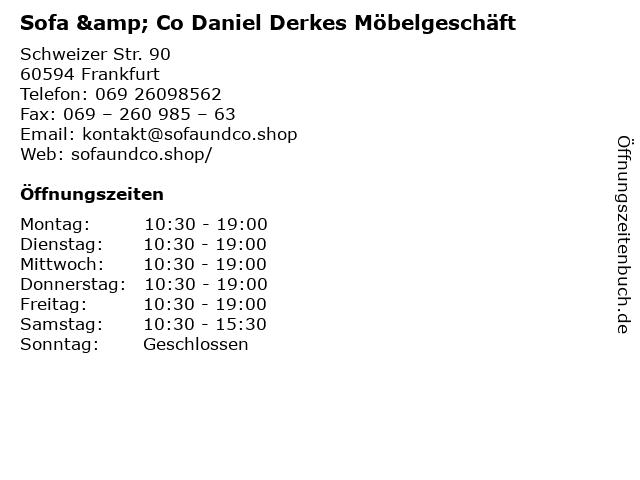 """ᐅ Öffnungszeiten """"Sofa & Co Daniel Derkes Möbelgeschäft ..."""