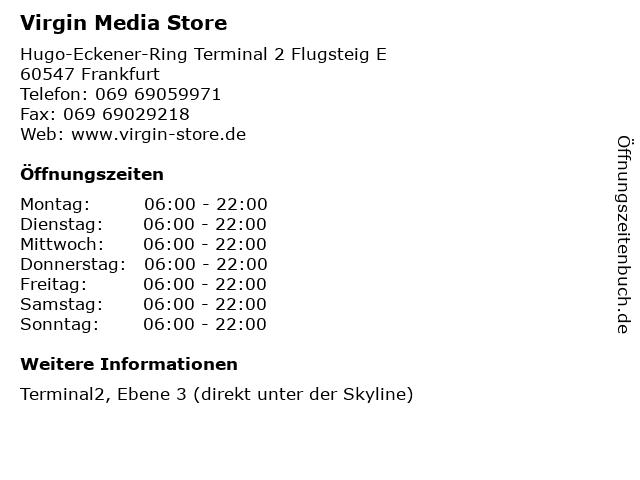 Virgin Media Store in Frankfurt: Adresse und Öffnungszeiten