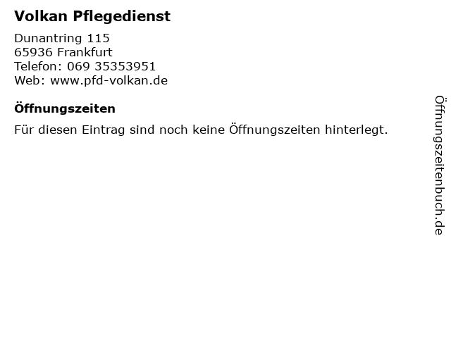 Volkan Pflegedienst in Frankfurt: Adresse und Öffnungszeiten