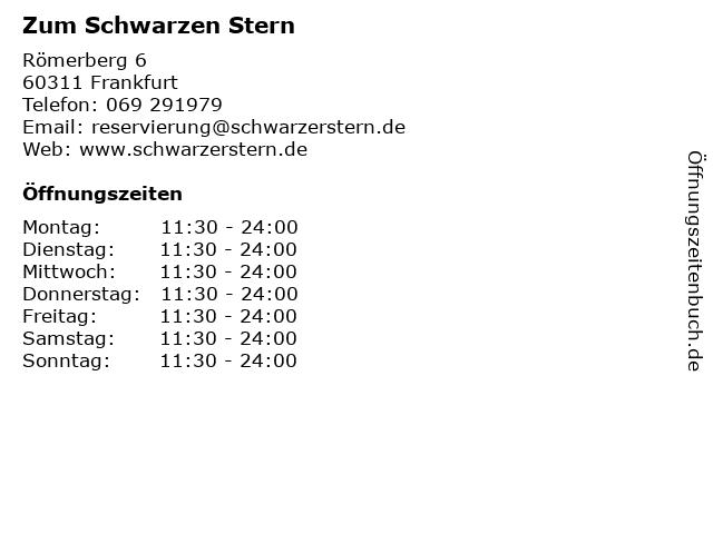Zum Schwarzen Stern in Frankfurt: Adresse und Öffnungszeiten
