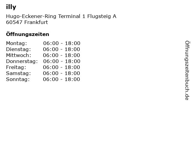 illy in Frankfurt: Adresse und Öffnungszeiten