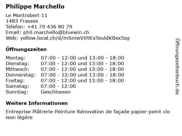 Philippe Marchello in Frasses: Adresse und Öffnungszeiten