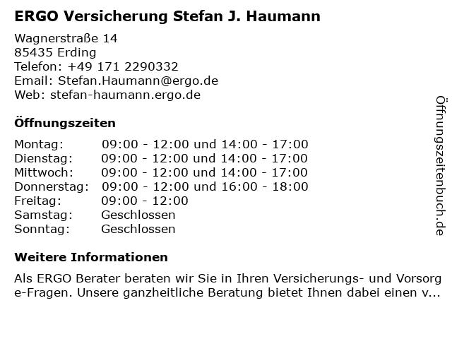 ERGO Versicherung Stefan J. Haumann in Fraunberg: Adresse und Öffnungszeiten
