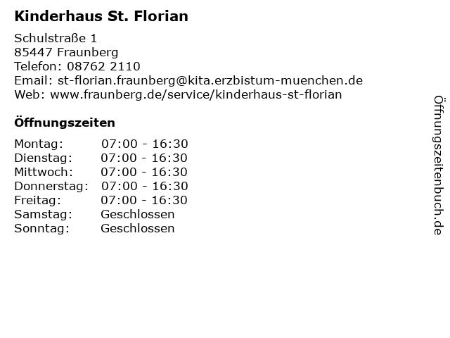 Kinderhaus St. Florian in Fraunberg: Adresse und Öffnungszeiten