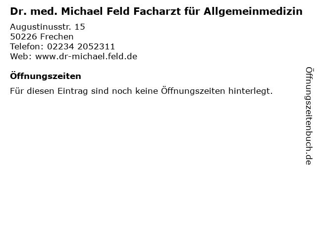 ᐅ öffnungszeiten Dr Med Michael Feld Facharzt Für