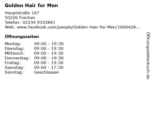 Golden Hair for Men in Frechen: Adresse und Öffnungszeiten