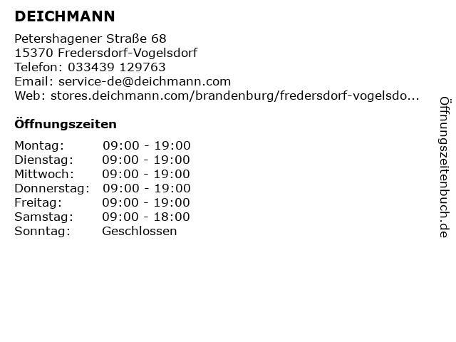 Deichmann in Fredersdorf: Adresse und Öffnungszeiten