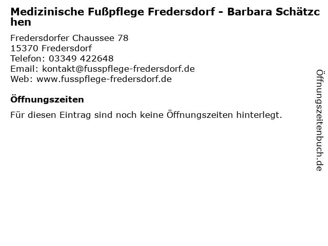 Fußpflege und Kosmetik Langenhagen - Barbara Schätzchen in Neuenhagen: Adresse und Öffnungszeiten