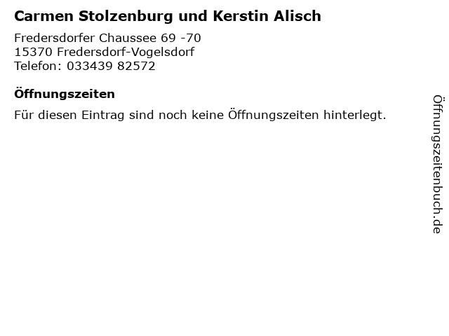 Carmen Stolzenburg und Kerstin Alisch in Fredersdorf-Vogelsdorf: Adresse und Öffnungszeiten