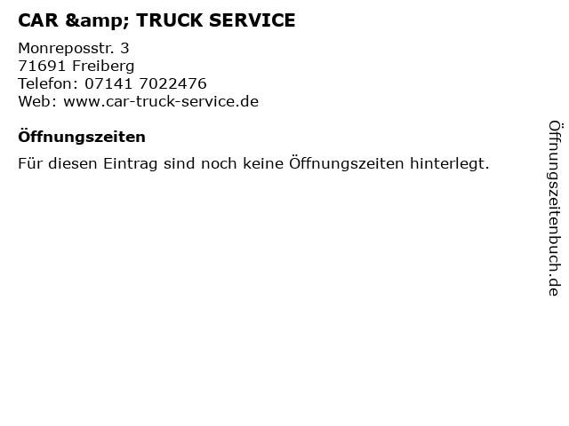 CAR & TRUCK SERVICE in Freiberg: Adresse und Öffnungszeiten