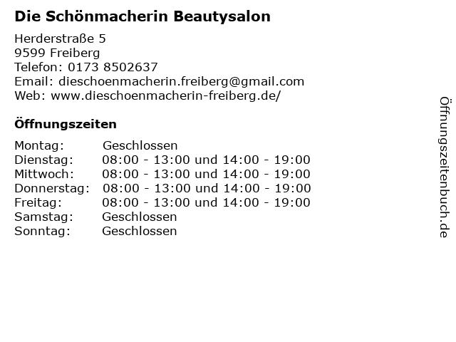 Die Schönmacherin Beautysalon in Freiberg: Adresse und Öffnungszeiten