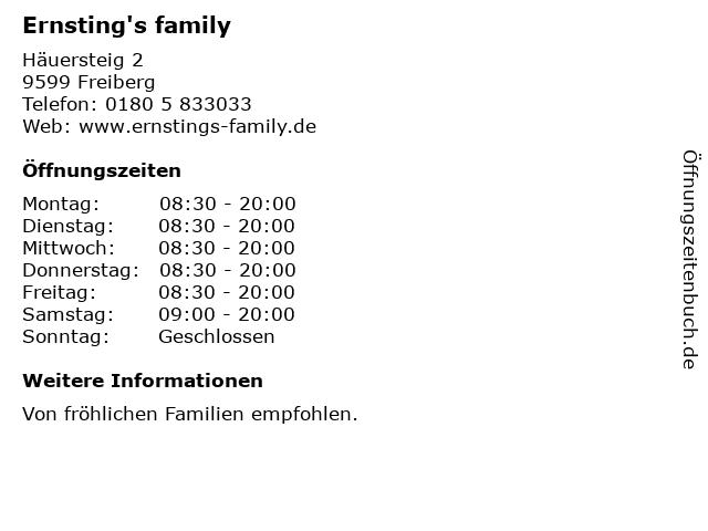 Ernsting's family in Freiberg: Adresse und Öffnungszeiten