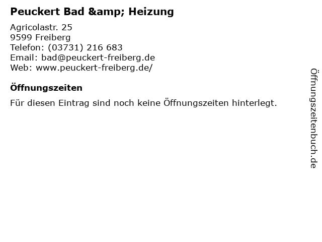 Peuckert Bad & Heizung in Freiberg: Adresse und Öffnungszeiten