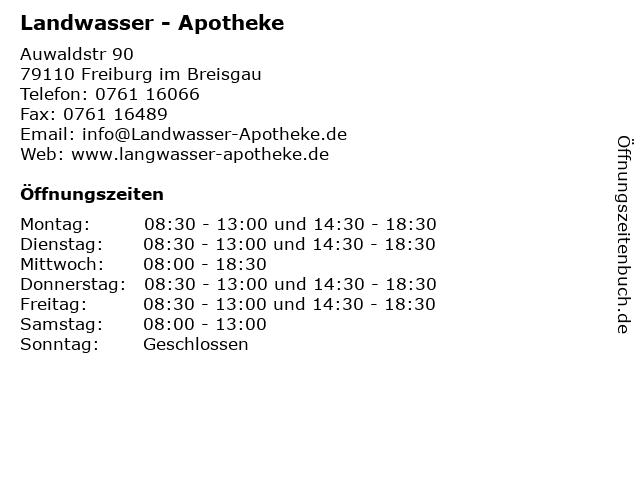 Landwasser - Apotheke in Freiburg im Breisgau: Adresse und Öffnungszeiten