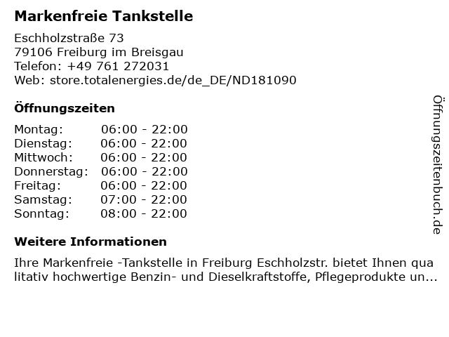 Markenfreie Tankstelle in Freiburg im Breisgau: Adresse und Öffnungszeiten