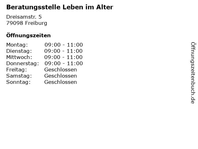 Beratungsstelle Leben im Alter in Freiburg: Adresse und Öffnungszeiten