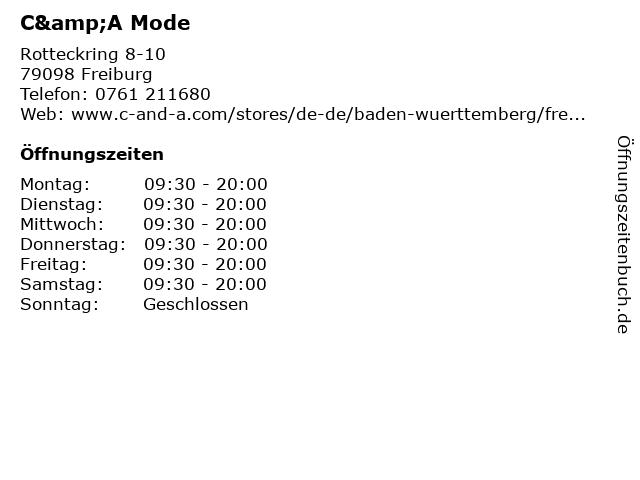C&A Mode GmbH & Co. KG in Freiburg: Adresse und Öffnungszeiten