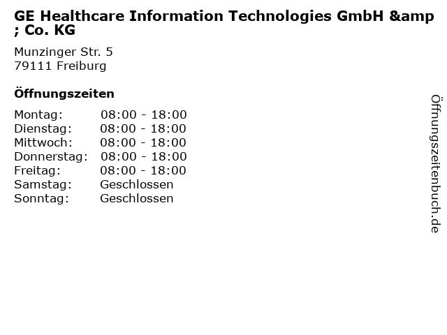 GE Healthcare Information Technologies GmbH & Co. KG in Freiburg: Adresse und Öffnungszeiten