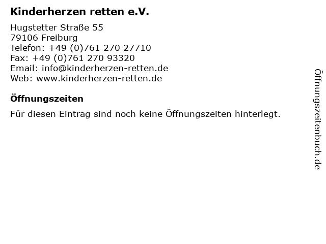 Kinderherzen retten e.V. in Freiburg: Adresse und Öffnungszeiten