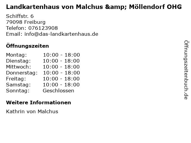 Landkartenhaus von Malchus & Möllendorf OHG in Freiburg: Adresse und Öffnungszeiten