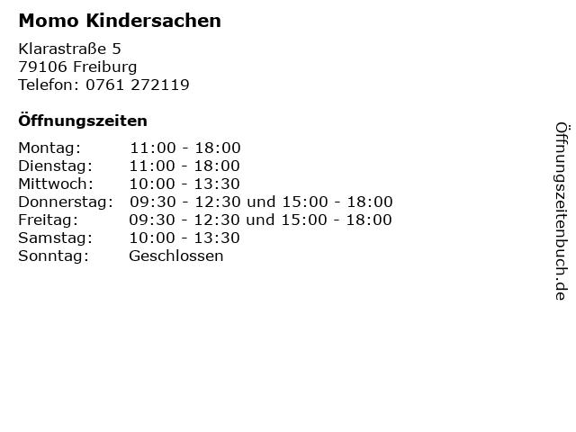 Momo Kindersachen in Freiburg: Adresse und Öffnungszeiten
