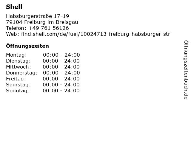 Shell Station in Freiburg: Adresse und Öffnungszeiten