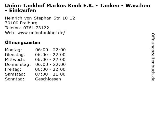 Union Tankhof Markus Kenk E.K. - Tanken - Waschen - Einkaufen in Freiburg: Adresse und Öffnungszeiten