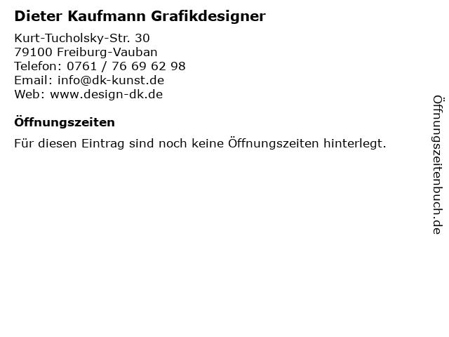 Dieter Kaufmann Grafikdesigner in Freiburg-Vauban: Adresse und Öffnungszeiten