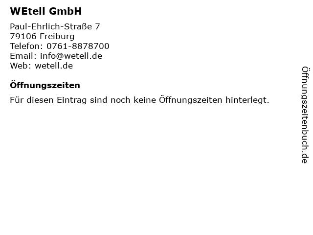 WEtell GmbH in Freiburg: Adresse und Öffnungszeiten