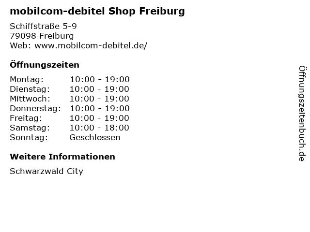 mobilcom-debitel Shop Freiburg in Freiburg: Adresse und Öffnungszeiten