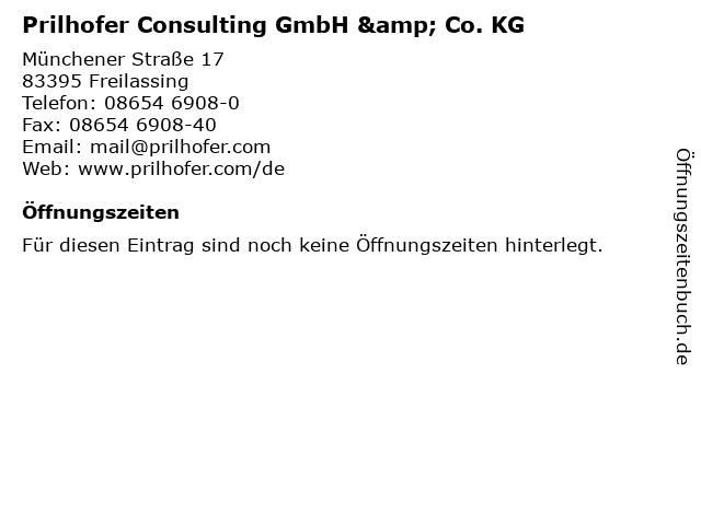 Prilhofer Consulting GmbH & Co. KG in Freilassing: Adresse und Öffnungszeiten