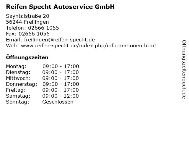 ᐅ Offnungszeiten Reifen Specht Autoservice Gmbh