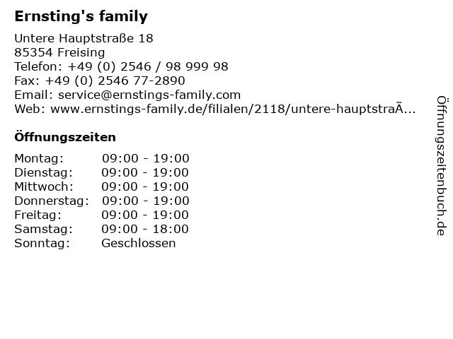 Ernsting's family in Freising: Adresse und Öffnungszeiten