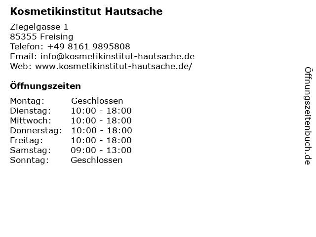 Kosmetikinstitut Hautsache in Freising: Adresse und Öffnungszeiten