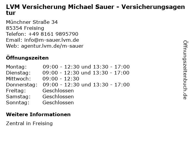 LVM-Versicherungsagentur Michael Sauer in Freising: Adresse und Öffnungszeiten