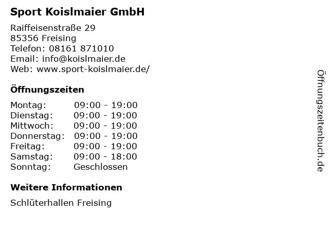 INTERSPORT Sport-Outlet in Freising: Adresse und Öffnungszeiten