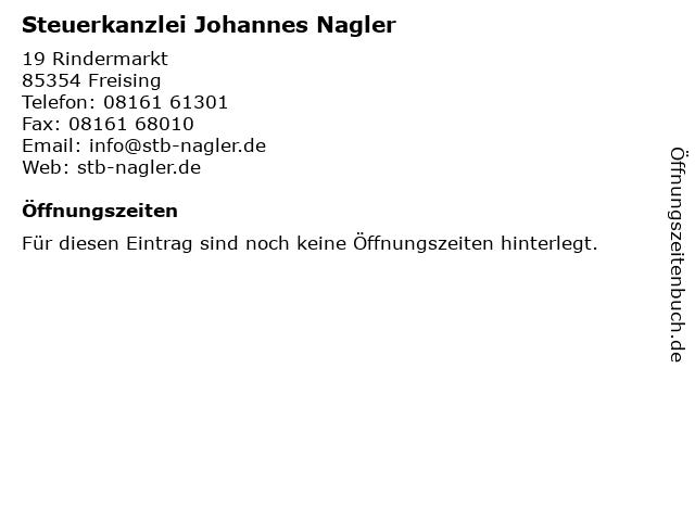 Steuerkanzlei Johannes Nagler in Freising: Adresse und Öffnungszeiten