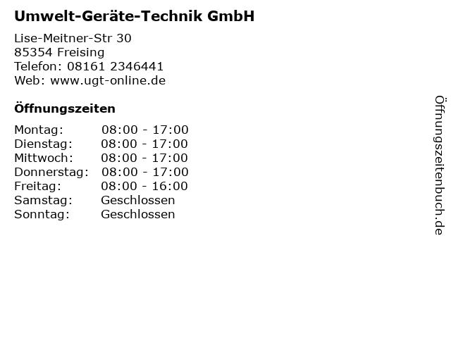 Umwelt-Geräte-Technik GmbH in Freising: Adresse und Öffnungszeiten