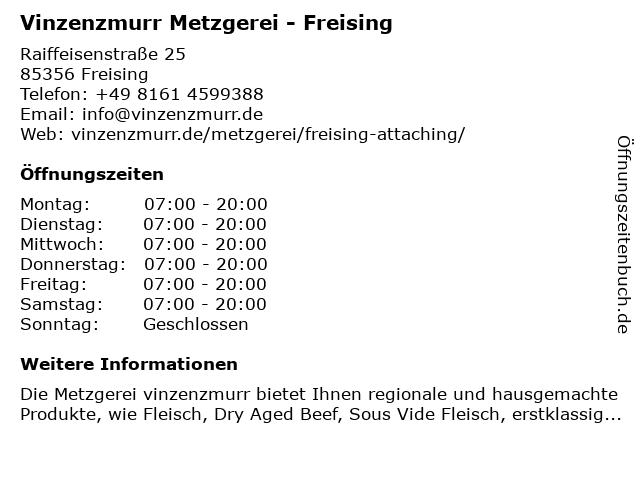 vinzenzmurr Vertriebs GmbH in Freising: Adresse und Öffnungszeiten