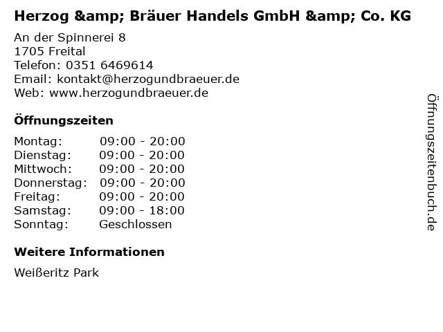 Herzog & Bräuer Handels GmbH & Co. KG in Freital: Adresse und Öffnungszeiten
