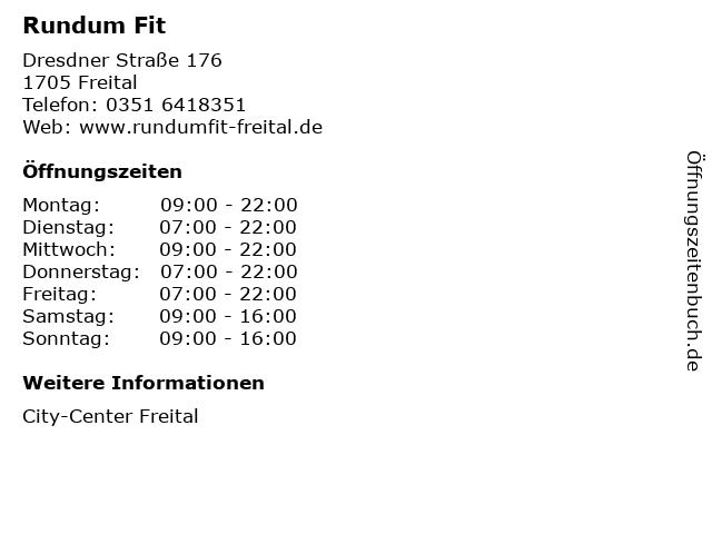 Rundum Fit in Freital: Adresse und Öffnungszeiten
