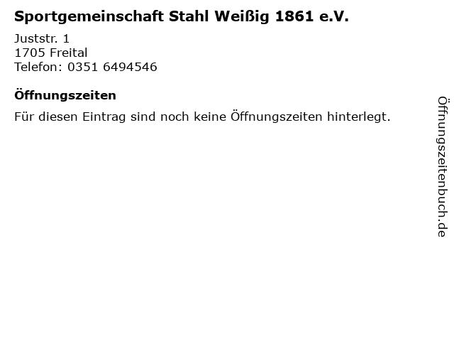 Sportgemeinschaft Stahl Weißig 1861 e.V. in Freital: Adresse und Öffnungszeiten