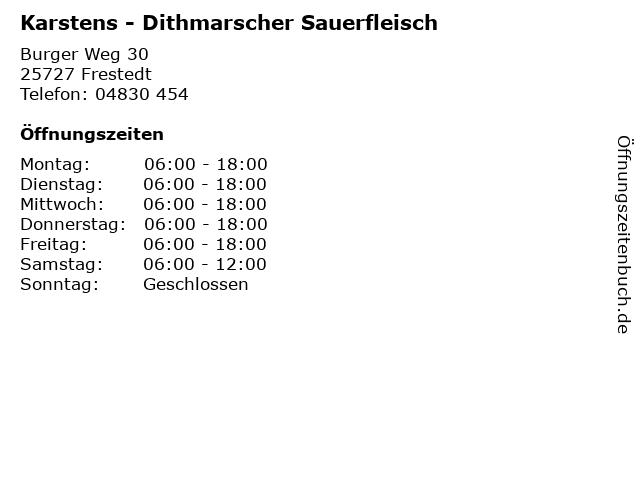 Karstens - Dithmarscher Sauerfleisch in Frestedt: Adresse und Öffnungszeiten