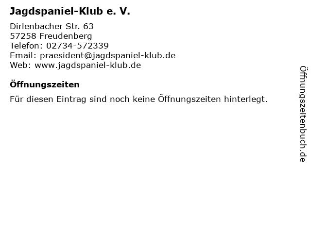 Jagdspaniel-Klub e. V. in Freudenberg: Adresse und Öffnungszeiten