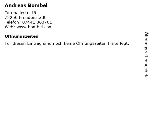 Andreas Bombel in Freudenstadt: Adresse und Öffnungszeiten