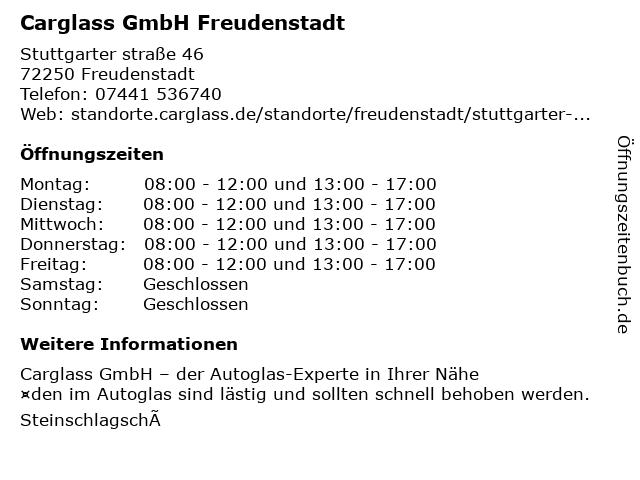 Carglass GmbH Freudenstadt in Freudenstadt: Adresse und Öffnungszeiten