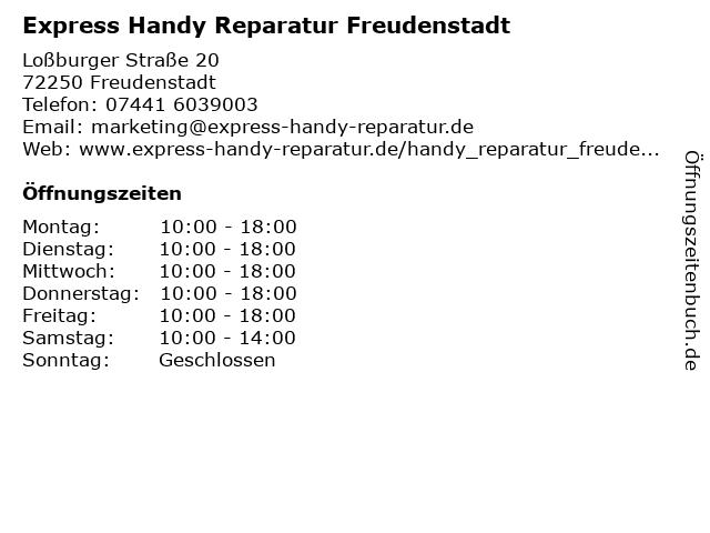 Express Handy Reparatur Freudenstadt in Freudenstadt: Adresse und Öffnungszeiten