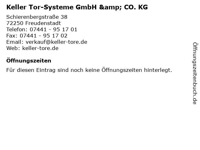 Keller Tor-Systeme GmbH & CO. KG in Freudenstadt: Adresse und Öffnungszeiten