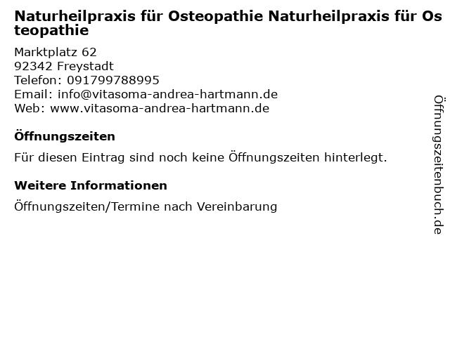 """ᐅ Öffnungszeiten """"Naturheilpraxis für Osteopathie"""
